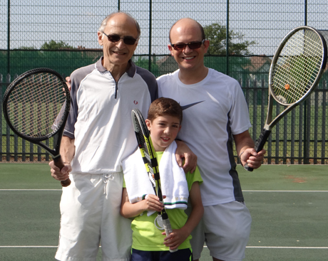 The Langleben Family at The Avenue Tennis Club